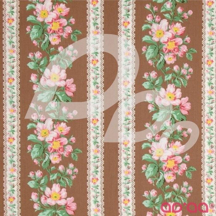 Verna Mosquera Snapshot Blooming Border Stripe Sepia
