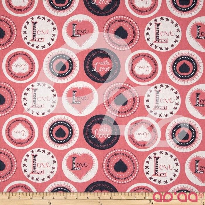 Love Letters Badges Geranium