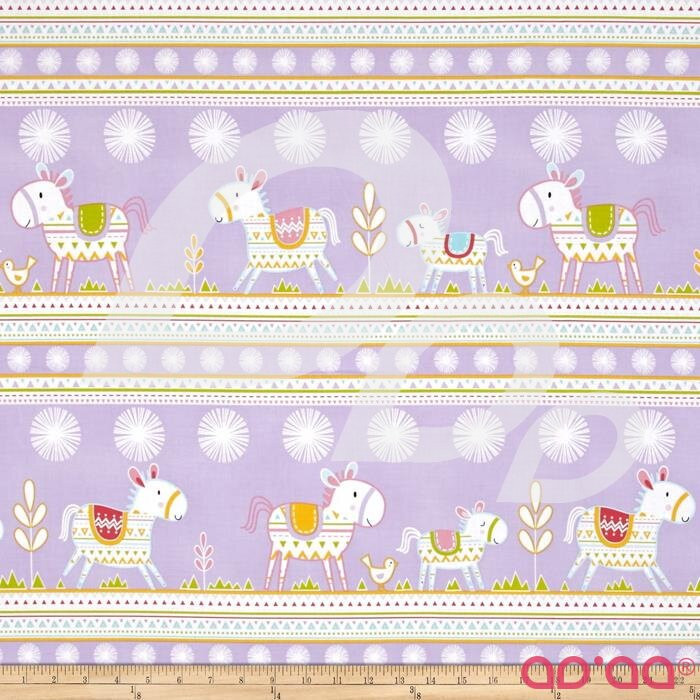 Happi Horses Horse Stripe Lavender