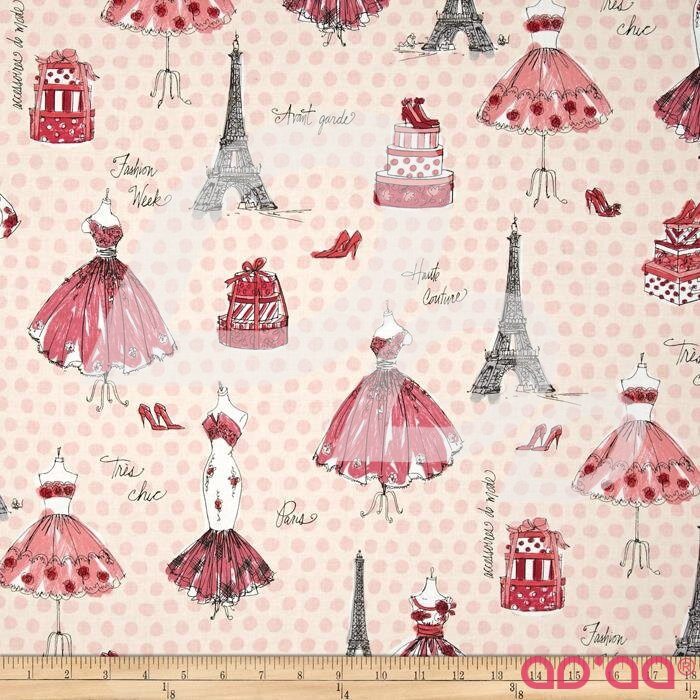 Kaufman City Chic City Collage Pink
