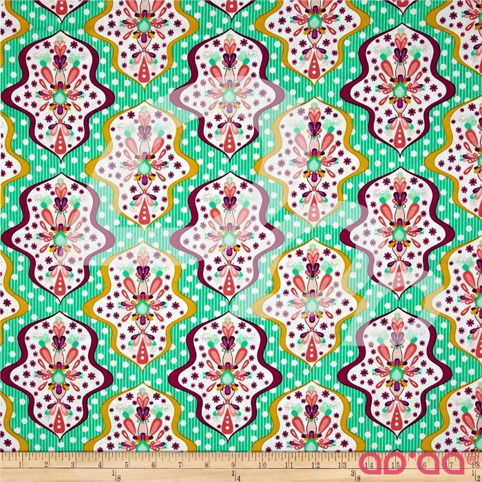 Riley Blake Floriography Damask Green