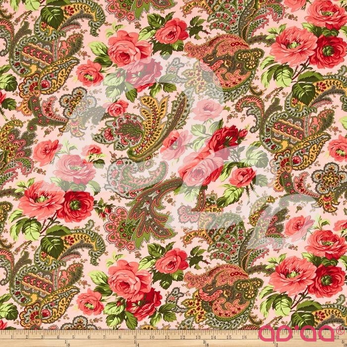 Verna Mosquera Indigo Rose Rose Paisley Carna