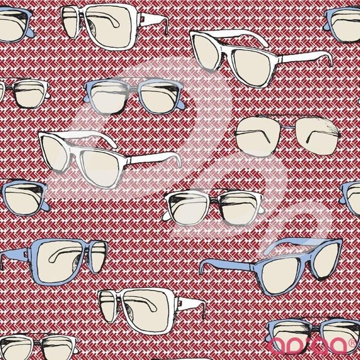 Riley Blake Speedster Sporty Glasses Red