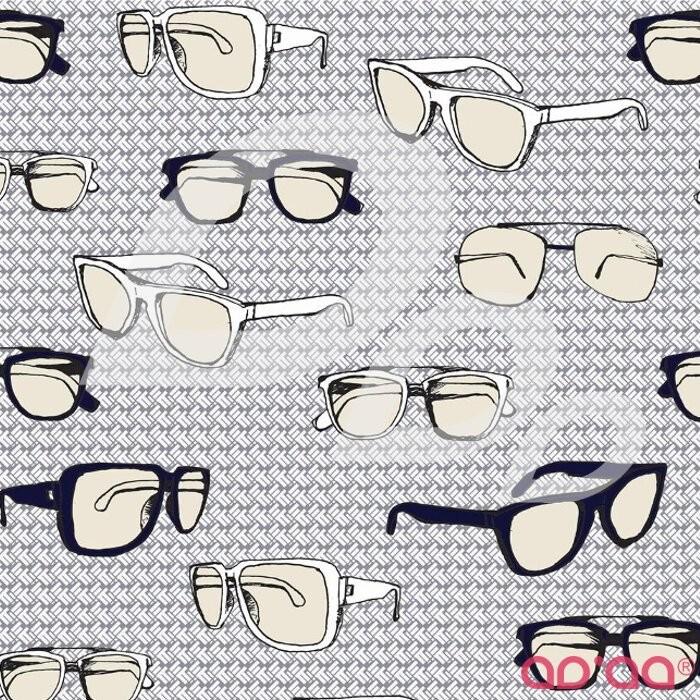 Riley Blake Speedster Sporty Glasses Gre