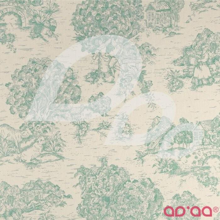Pastoral Toile Ivory/Aqua