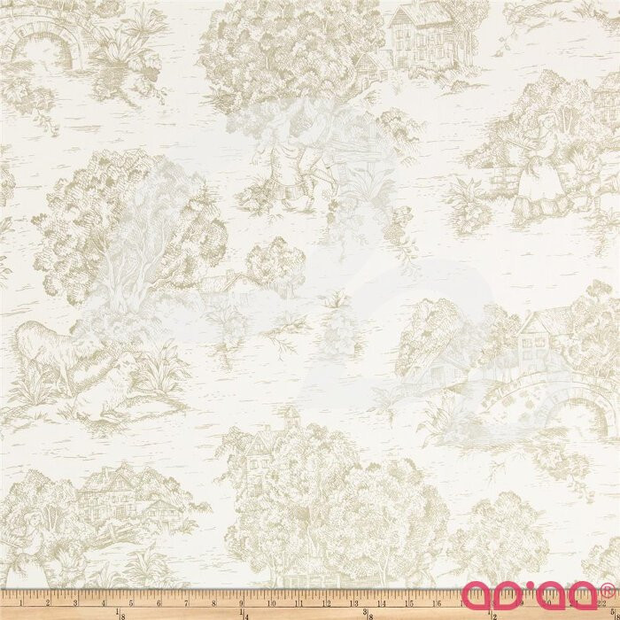 Pastoral Toile Ivory/Taupe