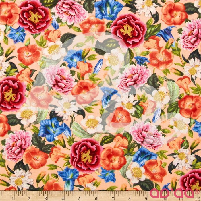 Natural Splendor Botanical Floral Medium Peach