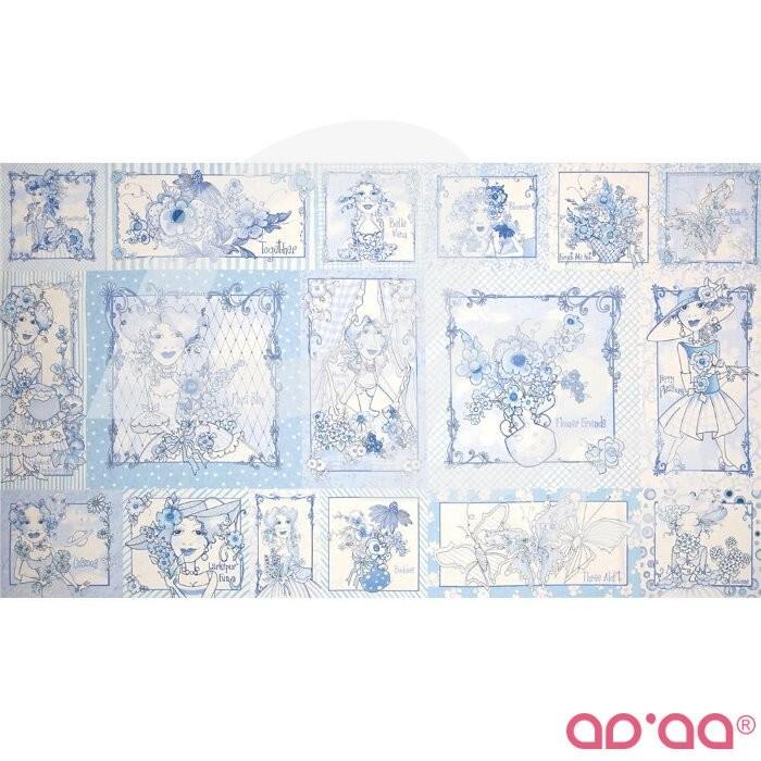 Flora Bleu Pictures Patches Blue