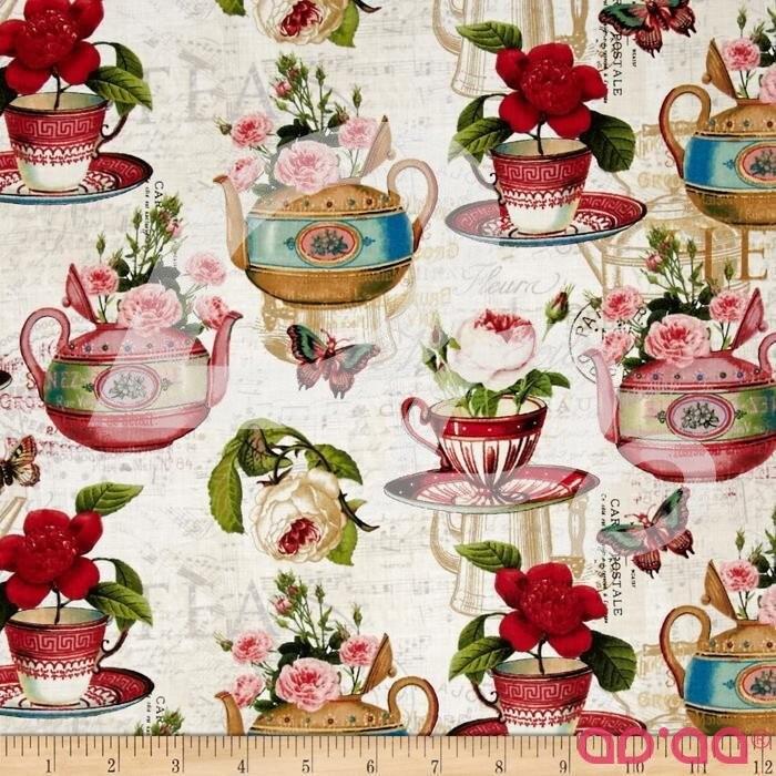 Tea Pot Flora Tea & Music Cream/Multi