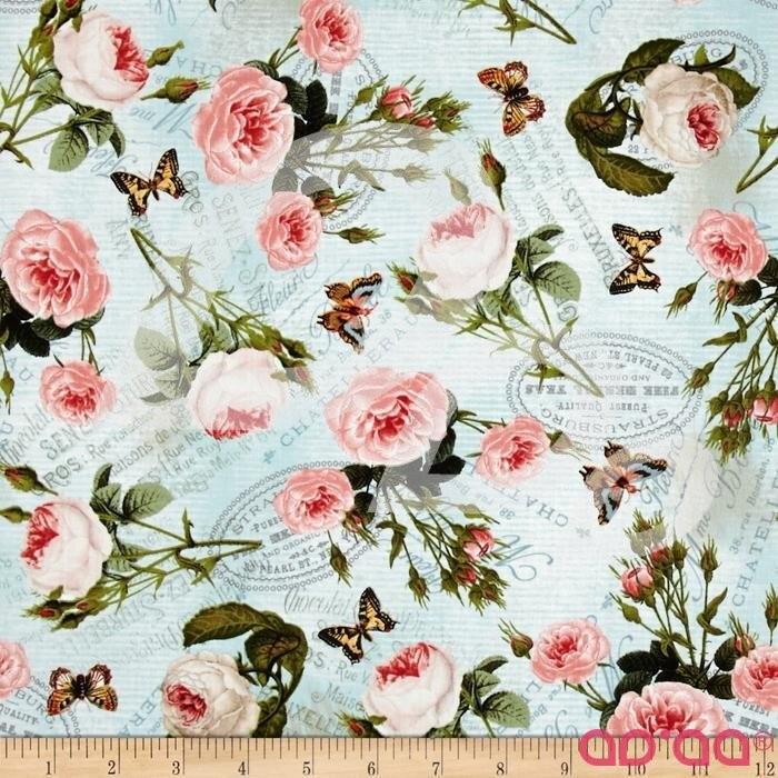 Tea Pot Flora Teapot Roses Turquoise/Multi