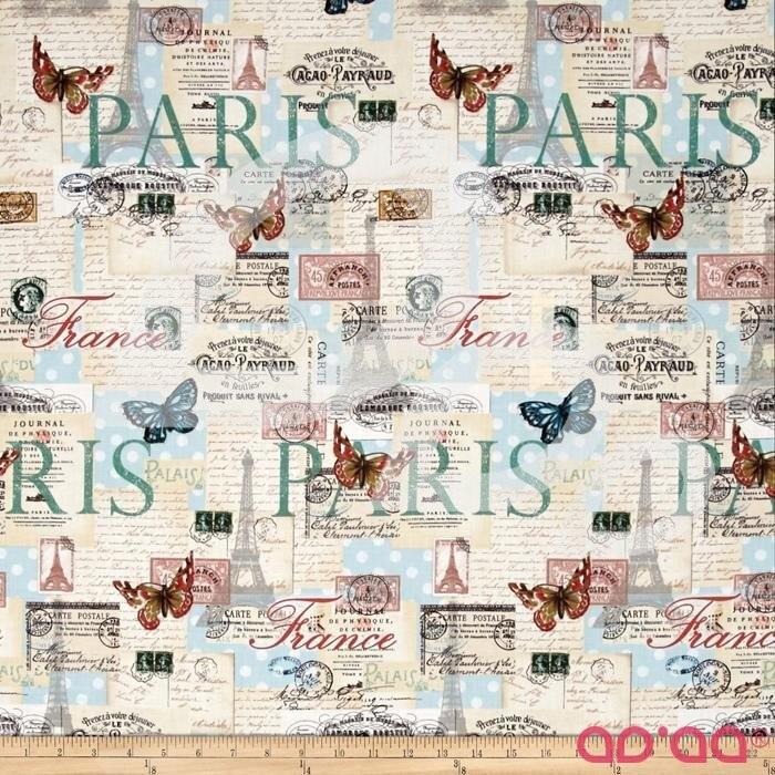 Paris Spring Expo Letters from Paris Cream/Multi