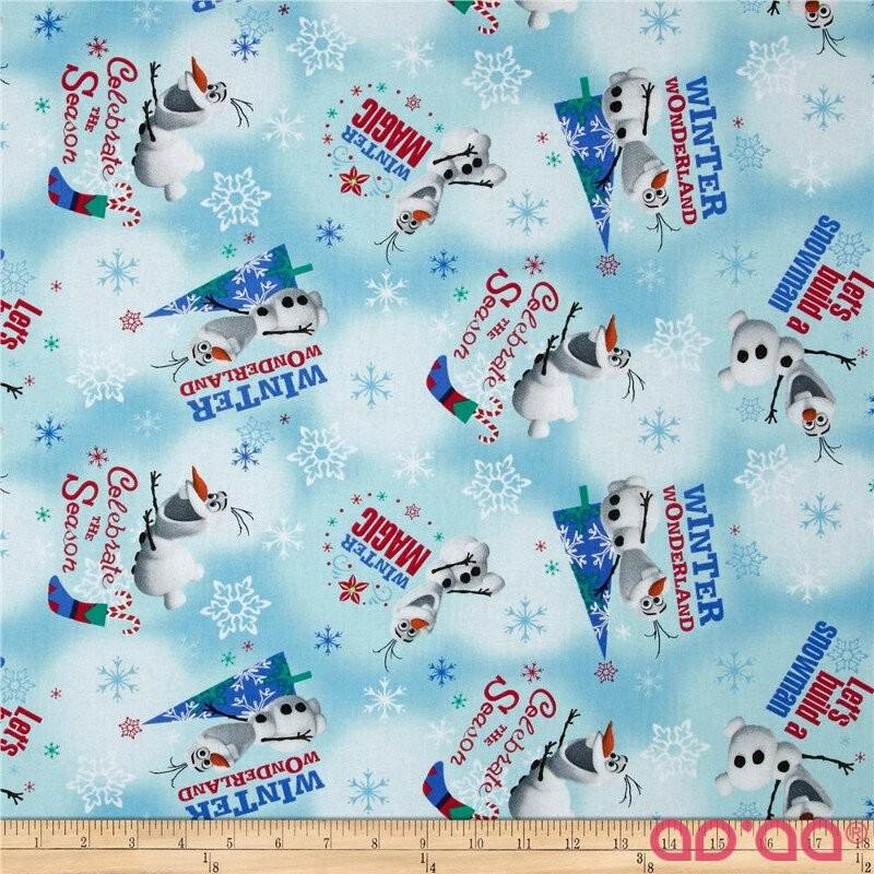 Christmas Disney Frozen Olaf Winter Wonderland Blue