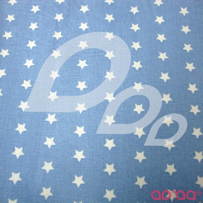 Big white stars in light blue