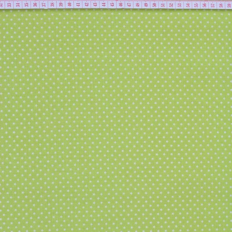 White stars in light green