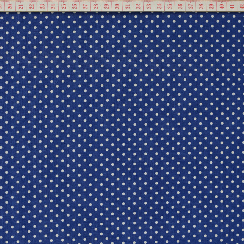 White dots in blue