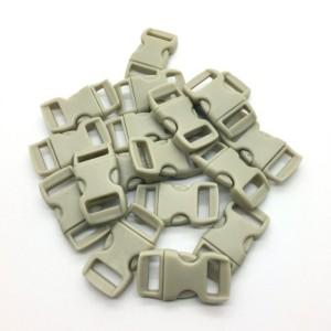 Fecho Plástico Cinza Claro 1cm
