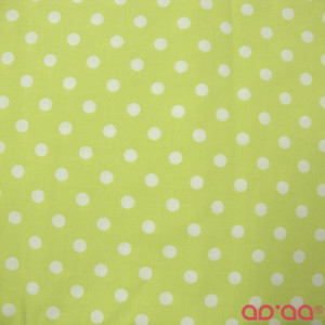White Big Dots in Light Green