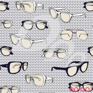 Riley Blake Speedster Sporty Glasses Grey