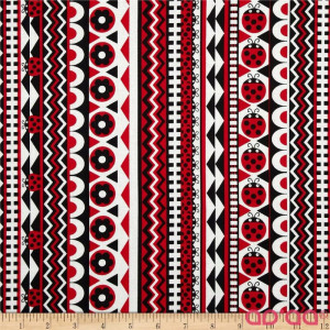 Kanvas Luv Bugs Luv Bug Stripe Black/Red