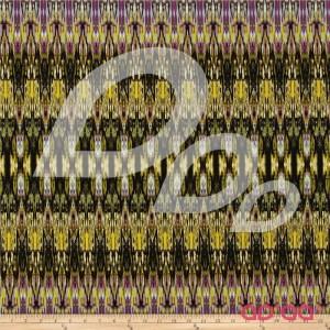 Fabrique-istan Ikat Olive/Purple