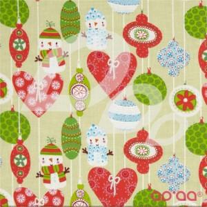 Seasons Greetings Ornaments Red/Green