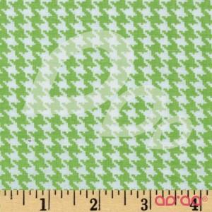 Tecido de Algodão PiedPull Branco e Verde