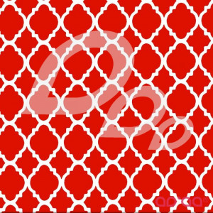 Quatrefoil Red/White