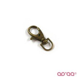 Mosquetão 1cm – bronze