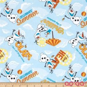Disney Frozen Olaf Celebrate Summer Allover Light Blue