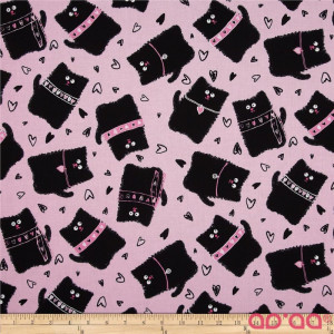 Kanvas Smudgy Cat Tossed Smudgy Pink