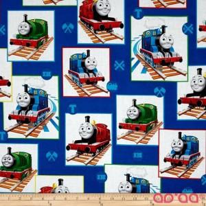 Thomas the Train Patchwork Blue