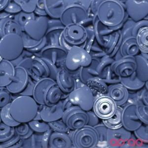 Molas Kam Corações 12mm Roxo Azulado