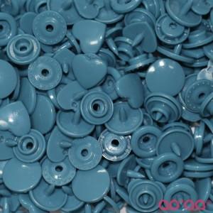 Molas Kam Corações 12mm Azul Petróleo