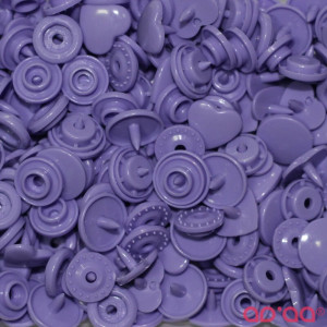Molas Kam Corações 12mm Lilás