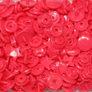 Molas Kam Estrelas 12mm Rosa Avermelhado