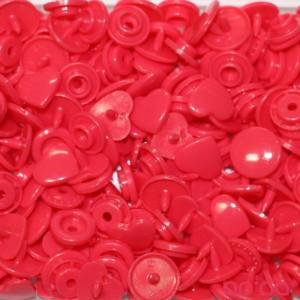 Molas Kam Corações 12mm Rosa Avermelhado