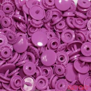 Molas Kam Redondas 12mm Rosa Arroxeado