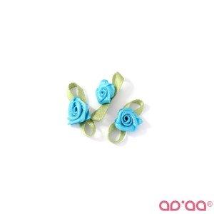 Flor Azul Turquesa 2cm