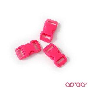 Fecho Plástico Rosa Choque 1cm