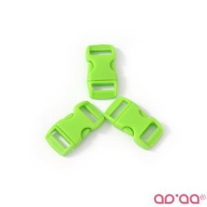 Fecho Plástico Verde Claro 1cm