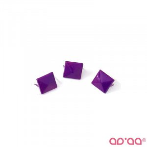 Tacha Quadrada Violeta 11mm