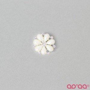 Aplicação Flor Branco 25mmX25mm