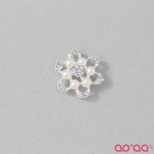 Aplicação Flor Branco 30mmX30mm