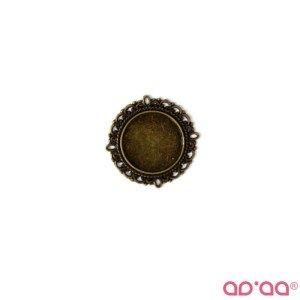 Base Cabochon Bronze 20mmx20mm