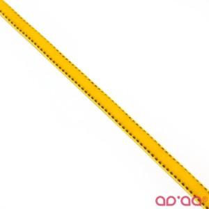 Fita Veludo Amarelo e Preto 1cm