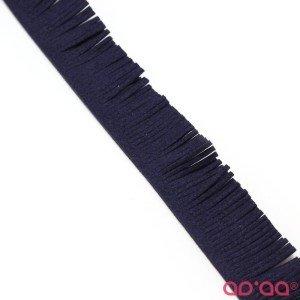 Franja Camurça (nobuck) 3cm – Azul Escuro