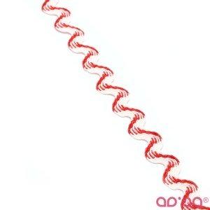 Fita Grega 15 mm – Branco e Vermelho