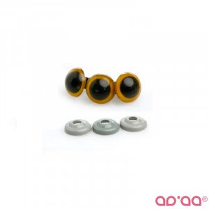 Olhos Amarelo 12mm