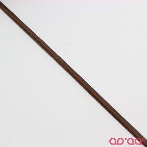 Cordão Camurça Castanho 4mm