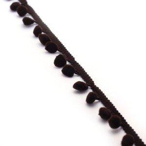 Fita Pompom 2cm – Castanho Escuro